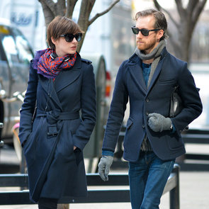 Anne Hathaway and Adam Shulman in Brooklyn   Pictures