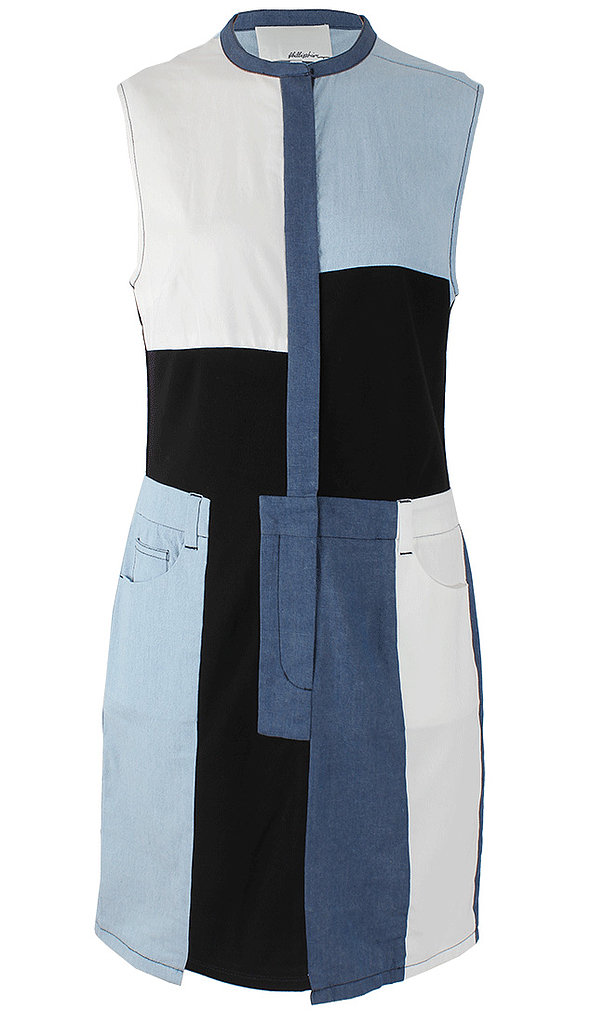 3.1 Phillip Lim's denim patchwork dress ($495) is a totally funky twist on the trend and would look amazing with a pair of tan sandals.