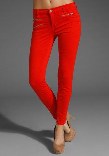 J Brand Zoe Midrise Zip Skinny