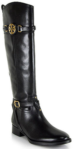 Tory Burch - Calista - Black Leather Riding Boot