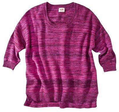 MS 3/4Slv Marl Scoop Sweater