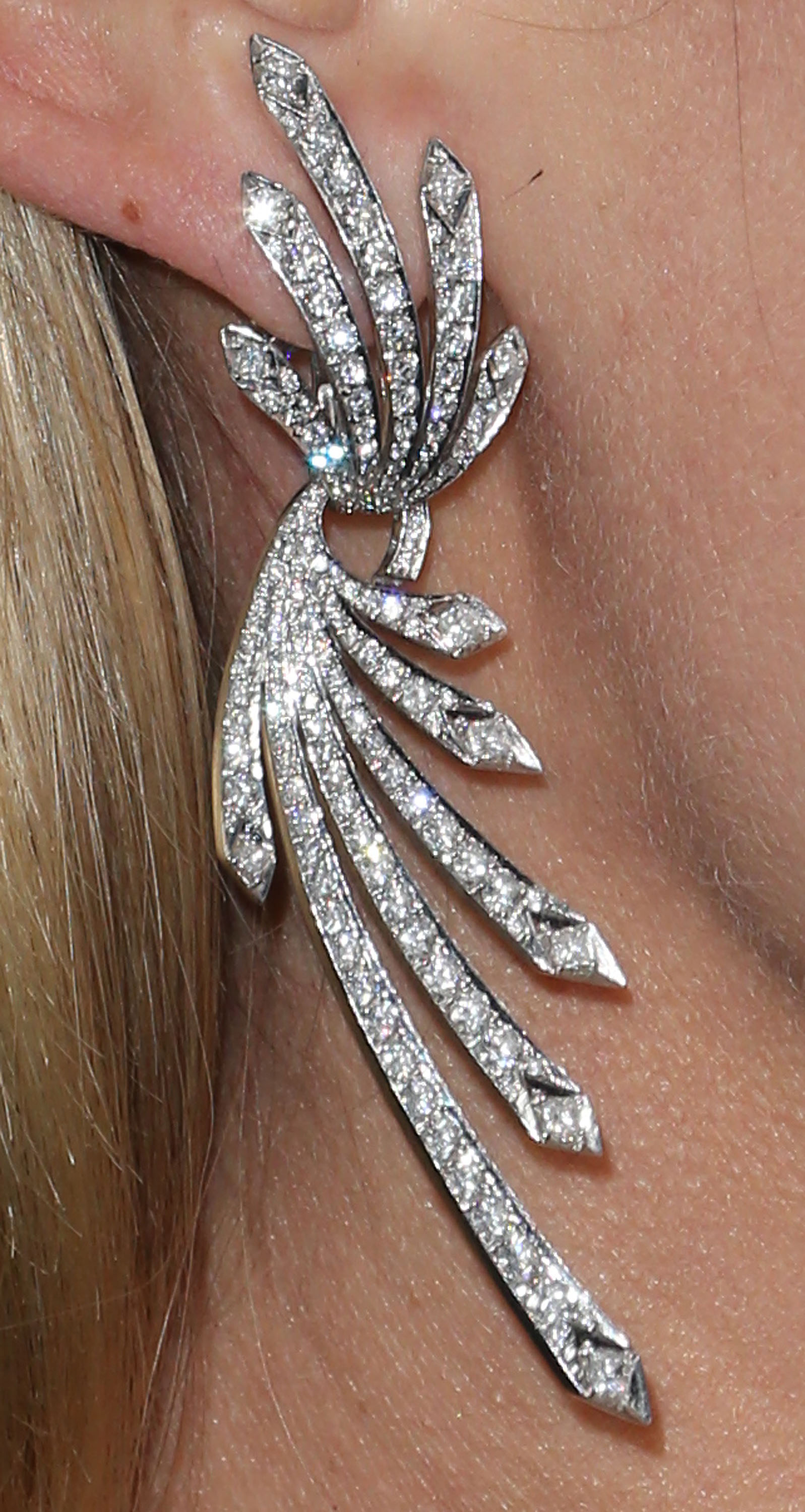 And her amazingly sparkly earrings.