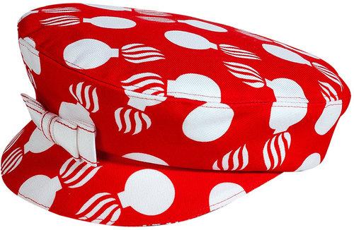 LWren Scott Red/Cream Printed Hat
