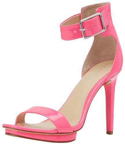Calvin Klein Women's Vivian Fluorescent Patent Platform Sandal