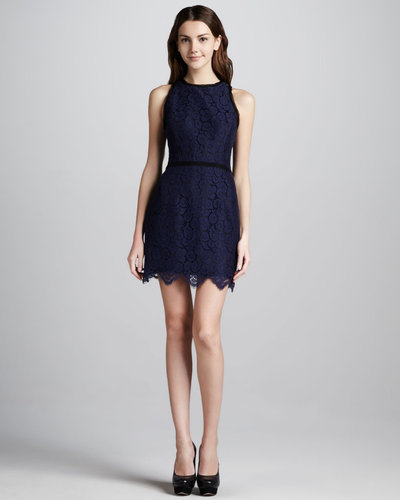 Milly Claudia Scalloped Lace Dress