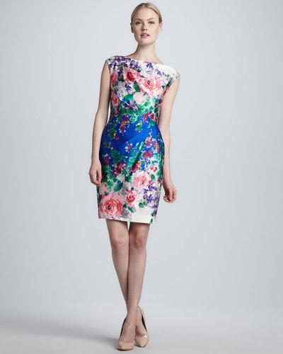 Ivy & Blu Sleeveless Floral-Print Sheath