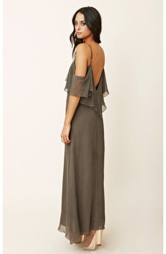 blu moon Summer Lovin' Maxi With Ruffle Shoulder