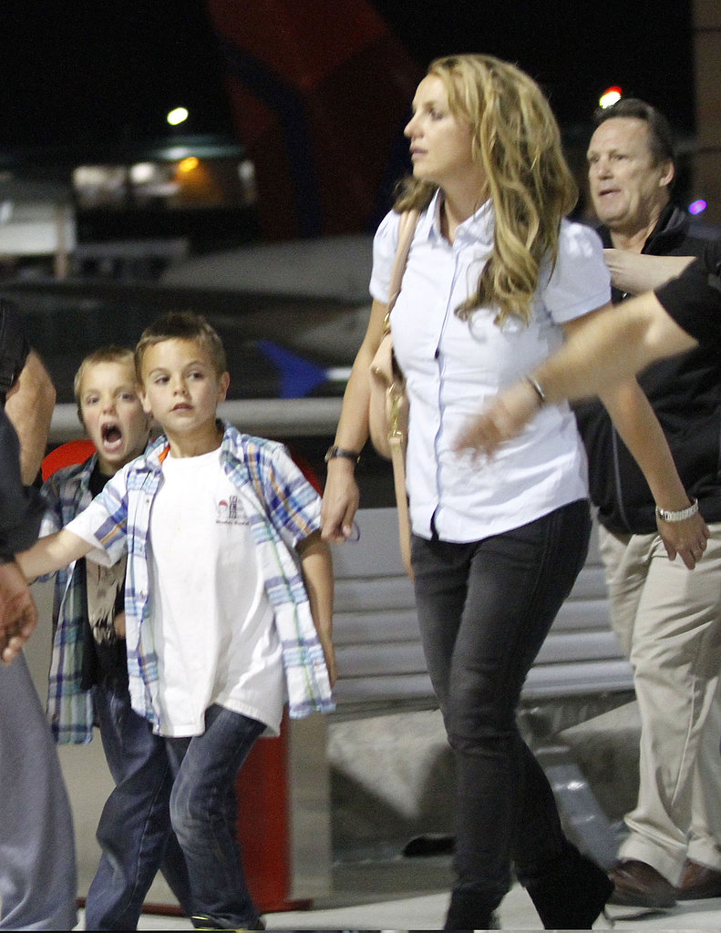 Britney Spears and Her Boys Head Home to Louisiana For Easter
