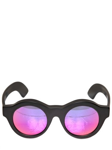 Mask Sunglasses With Mirrored Lenses
