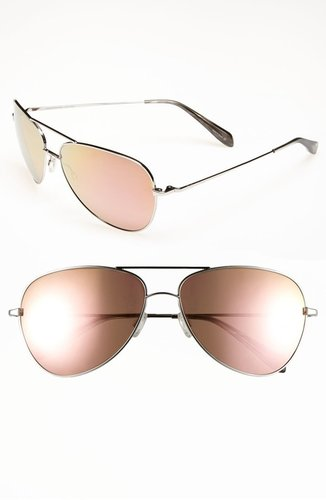 Oliver Peoples Aviator Sunglasses (Online Exclusive)