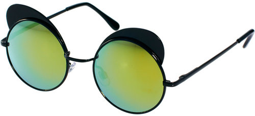 Quay Round Metal Sunglasses