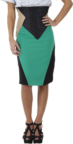 Sakina Color-Block High-Waist Skirt
