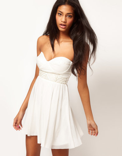 ASOS Skater Dress With Embellished Trim