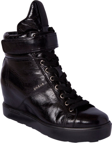Prada Velcro Band High Top Sneaker