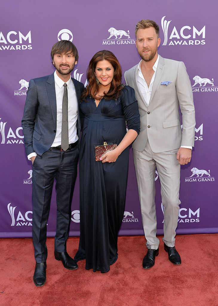 Dave Haywood, Hillary Scott, and Charles Kelley at the ACM Awards.
