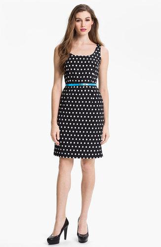 Adrianna Papell Polka Dot Sheath Dress