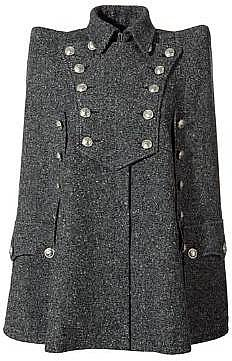 Balmain Black Coat Fancy Buttons