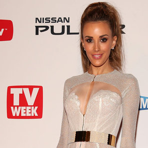 See Rebecca Judd in sheer J'aton Couture at the 2013 Logies