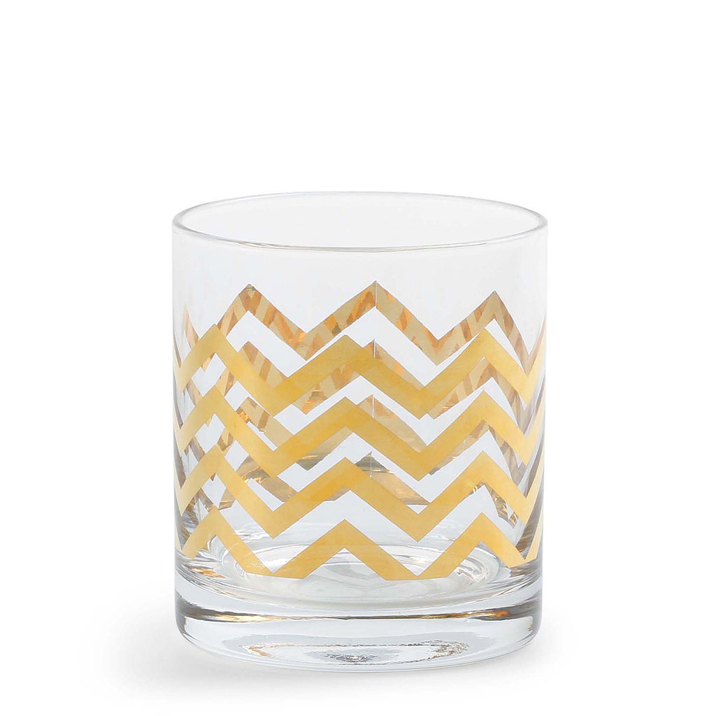 Gilded Old-Fashioned Glasses