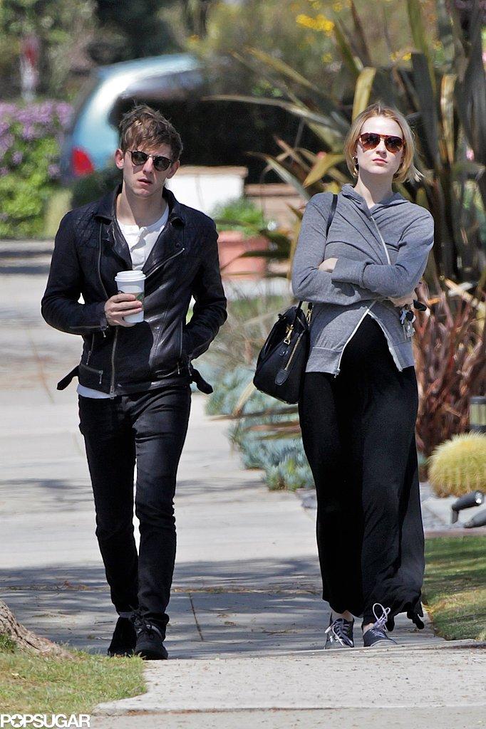 Evan Rachel Wood Shows Her Bump on a Weekend Walk With Jamie Bell