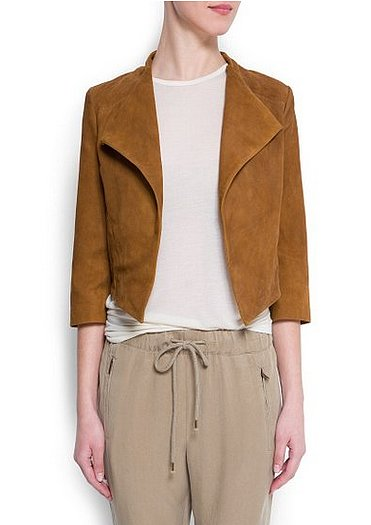 Mango's suede jacket ($190) is so plush — we think it would look especially great over a flirty floral dress.