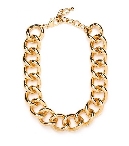 You can never go wrong with an oversize gold chain necklace; this BaubleBar rendition ($42) rings in well under our budget without anyone being the wiser.
