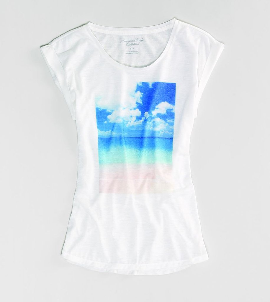 This American Eagle Photo Real T ($25) would look amazing with a pair of bright pink bottoms.