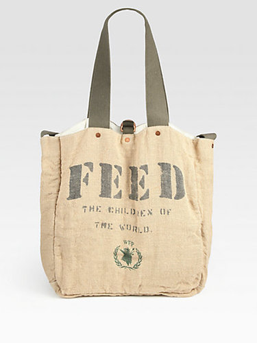 FEED FEED 2 Cotton and Burlap Messenger Bag