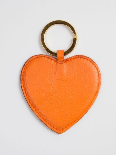Leather Heart Shape Key Ring