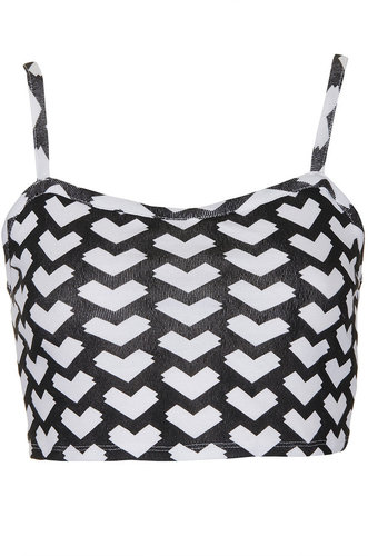 Geo Arrow Bra Crop Top