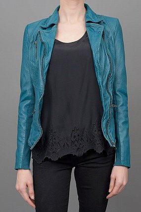 Muuba Leather Jacket Teal