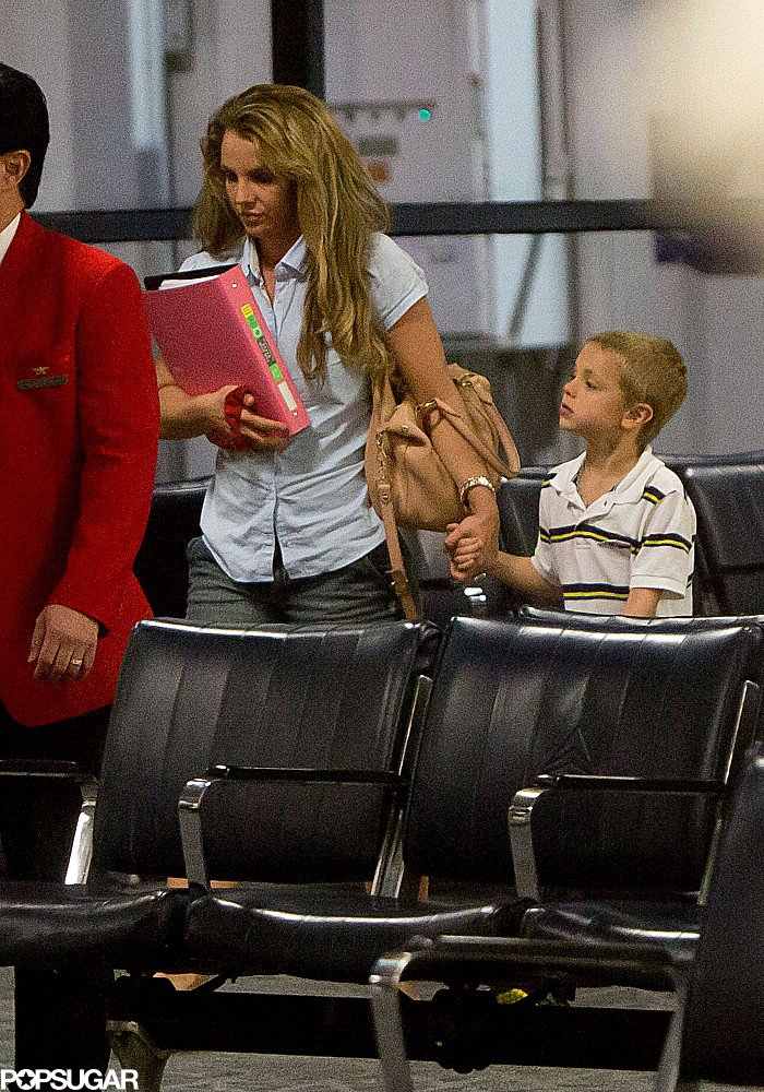 Britney and Her Boys Return to LA Following Family Fun in Louisiana