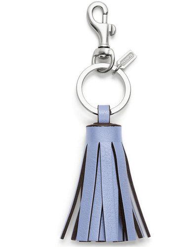 Coach Single Legacy Tassel Key Ring