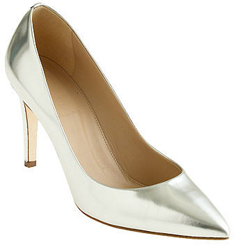 Everly mirror metallic pumps