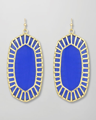 Kendra Scott Delilah Large Drop Earrings, Cobalt