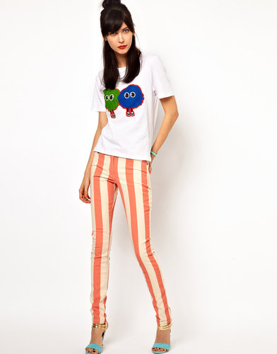 House of Holland Stripe Skinny Jeans
