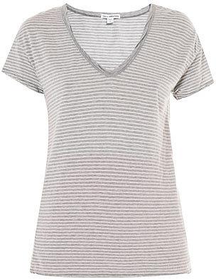 James Perse V-neck stripe T-shirt