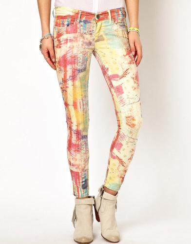 Pepe Jeans Multicoloured Print Skinny Jeans
