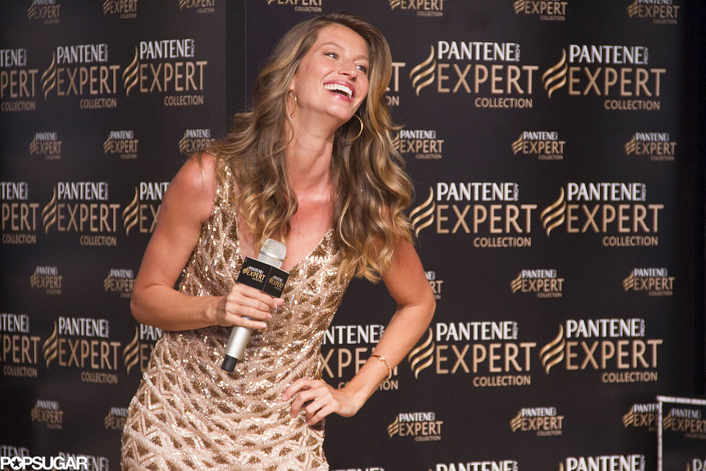 Gisele Bündchen spoke at the Pantene Expert promotion in her native Brazil on Wednesday.