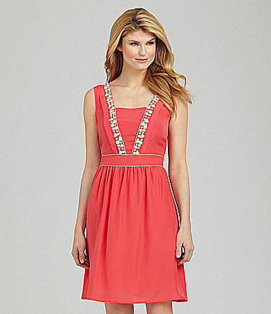Antonio Melani Cyanne Beaded Dress