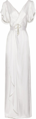 Temperley London Scarlett crystal-embellished silk-satin gown