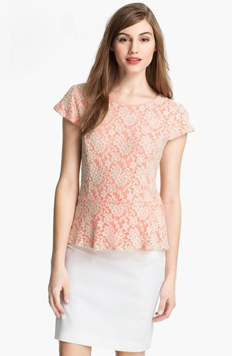 Matty M Lace Peplum Top