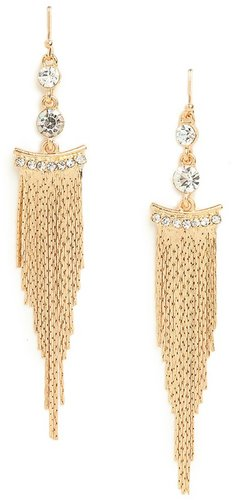 Gold Cleo Fringe Earrings