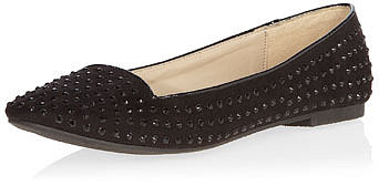 Black studded slipper