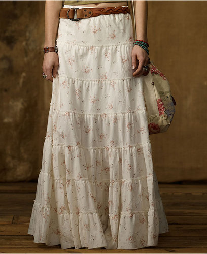Denim & Supply Ralph Lauren Skirt, Floral-Print Tiered Maxi