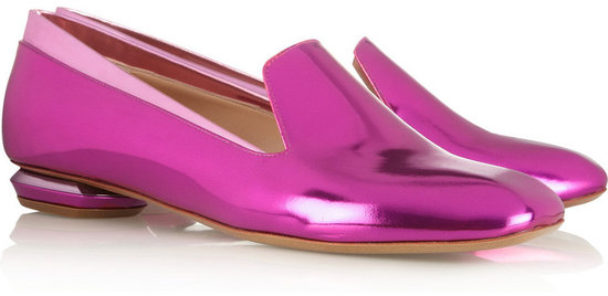 Nicholas Kirkwood Metallic leather slippers