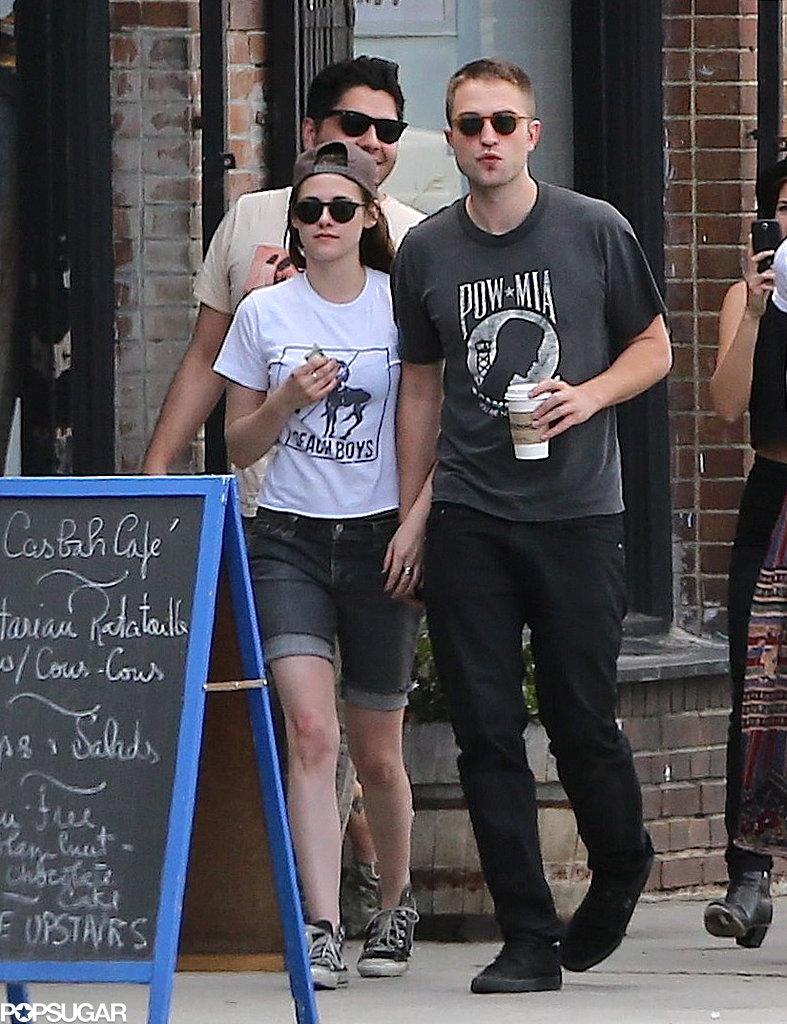 Robert Pattinson and Kristen Stewart held hands in Los Feliz.