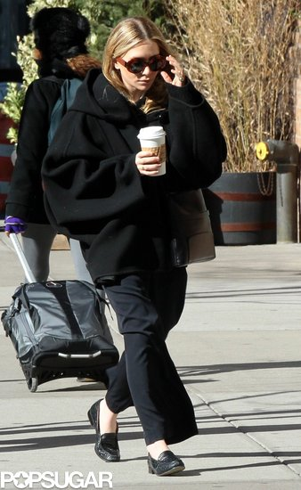 Mary-Kate Olsen stepped out in an all-black ensemble in NYC.