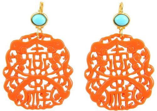 Kenneth Jay Lane - 7834ETLC (Light Coral/Turquoise) - Jewelry
