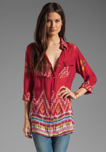 Indah Giselle Button Down Travel Shirt Dress
